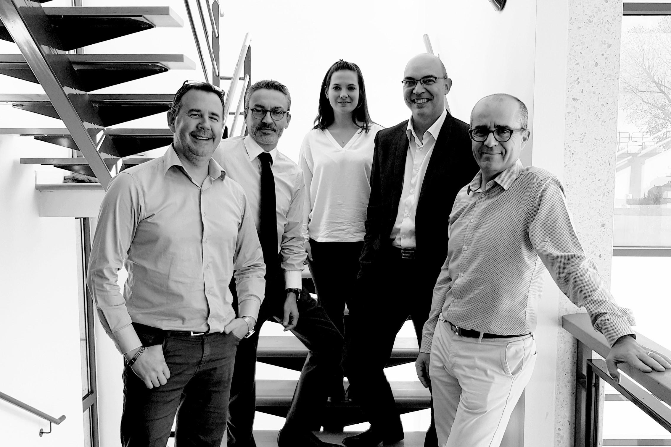 Photo de l'équipe dirigeante de l'imprimerie Martinenq
