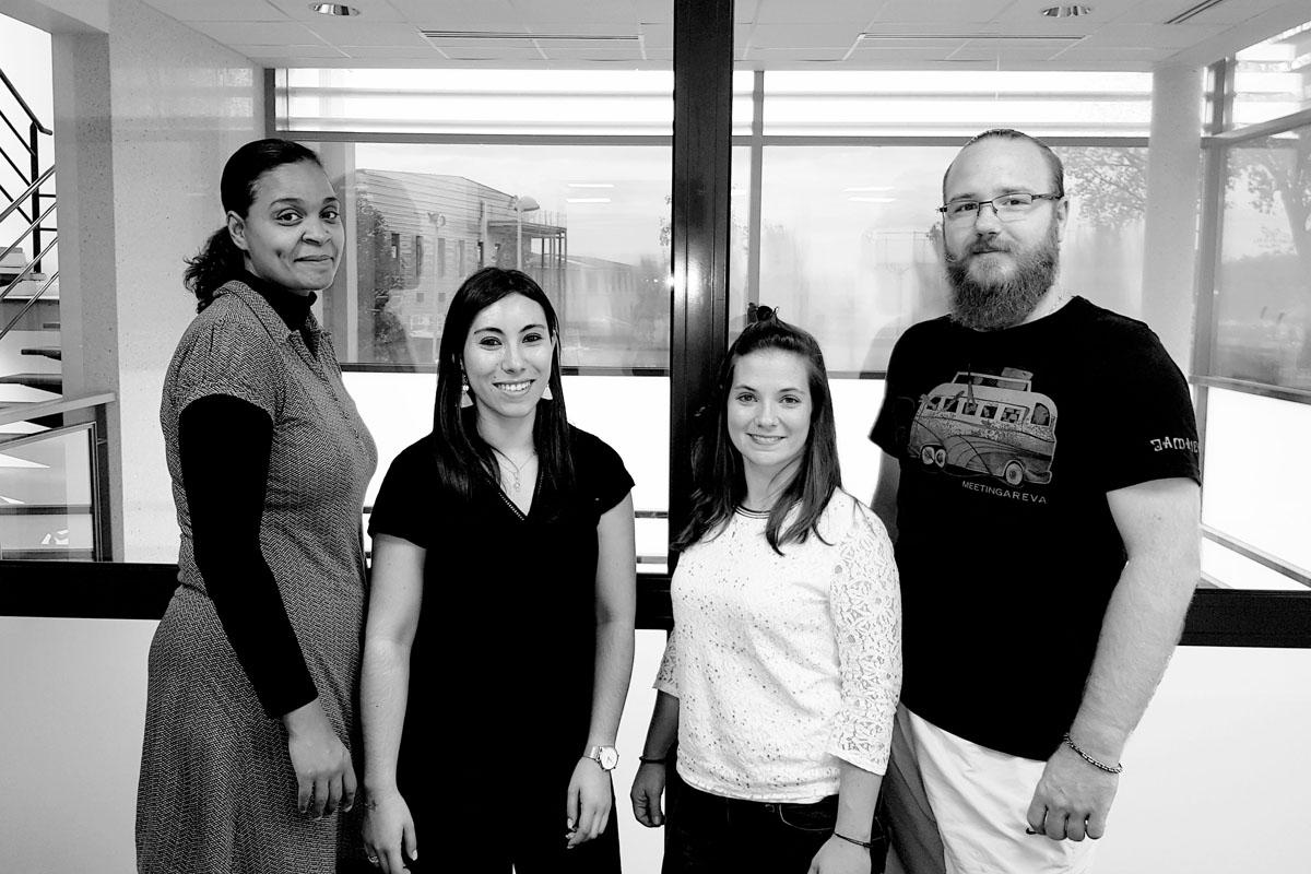 Photo de l'équipe QHSE de Martinenq